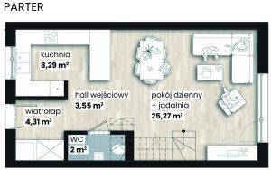 Apartamenty Nad Rzeką - parter