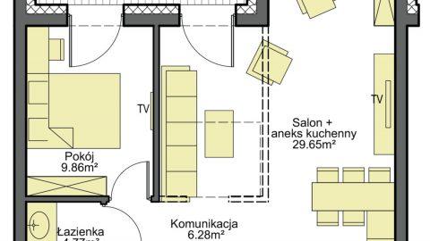 Gosławice – nowy apartament 2 pokoje
